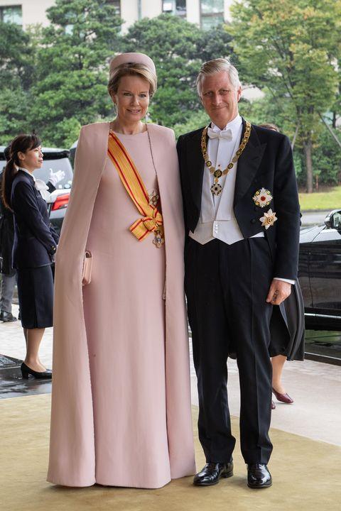 Matilde y Felipe de Bélgica entronización Naruhito en Japón