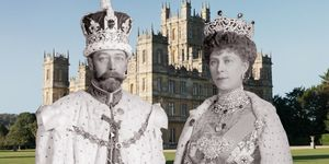 King George V Queen Mary Downton Abbey