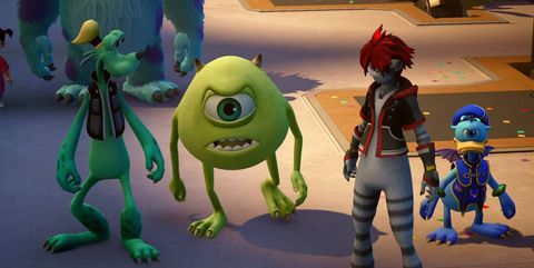Kingdom Hearts 3 peliculas disney monsters inc