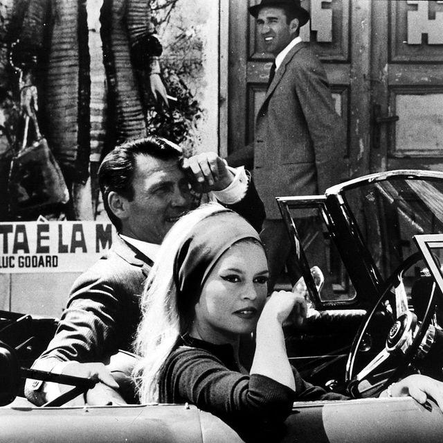 die verachtung, 1960er, 1960s, auto, cabriolet, film, mepris, le, car