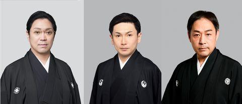 尾上松緑、中村松江 坂東亀蔵