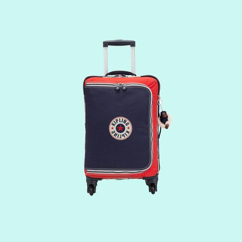 Suitcase, Bag, Hand luggage, Baggage, Red, Rolling, Product, Luggage and bags, Travel, Wheel,
