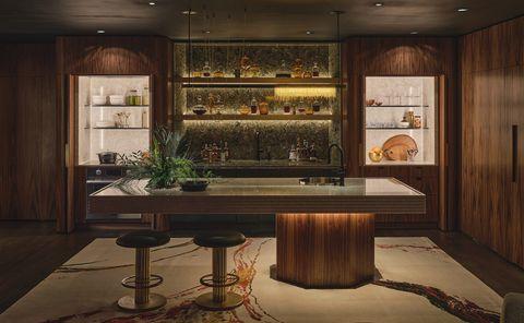 kips bay dallas 2021 yates desygn basement living room kitchen