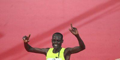 Mark Kiptoo winning the 2014 Frankfurt Marathon