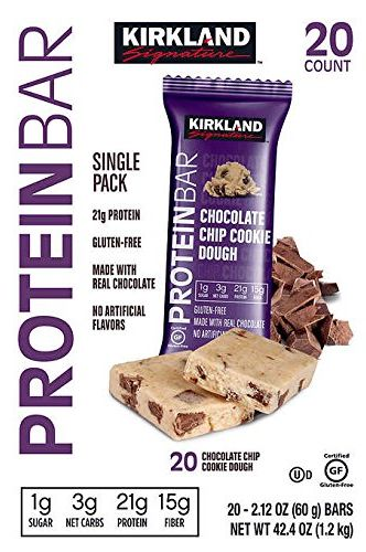 Kirkland Signature Protein Bars Chocolate Chip Cookie Dough