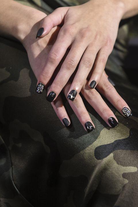 Nail, Finger, Hand, Manicure, Nail care, Cosmetics, Nail polish, Ring, Material property, Gesture,