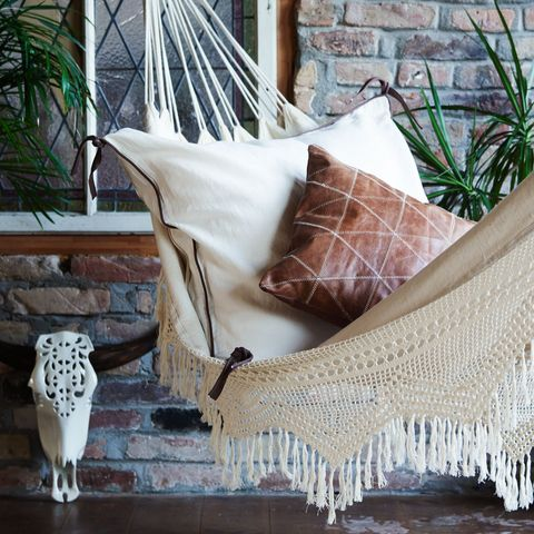 Furniture, Room, Crochet, Linens, Textile, Pillow, Table, Wood, Home accessories, Tablecloth,