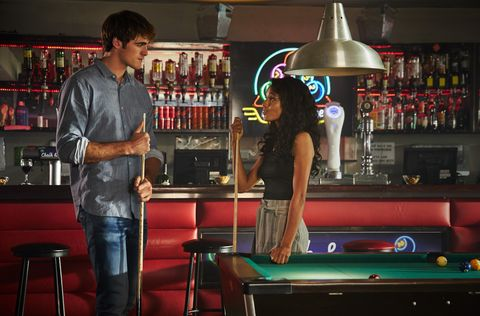 jacob elordi as noah and maisie richardson as chloe in the kissing booth 3