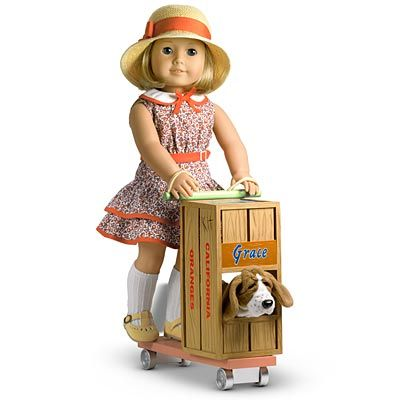 киттеридж американская девочка кукла грейс пес