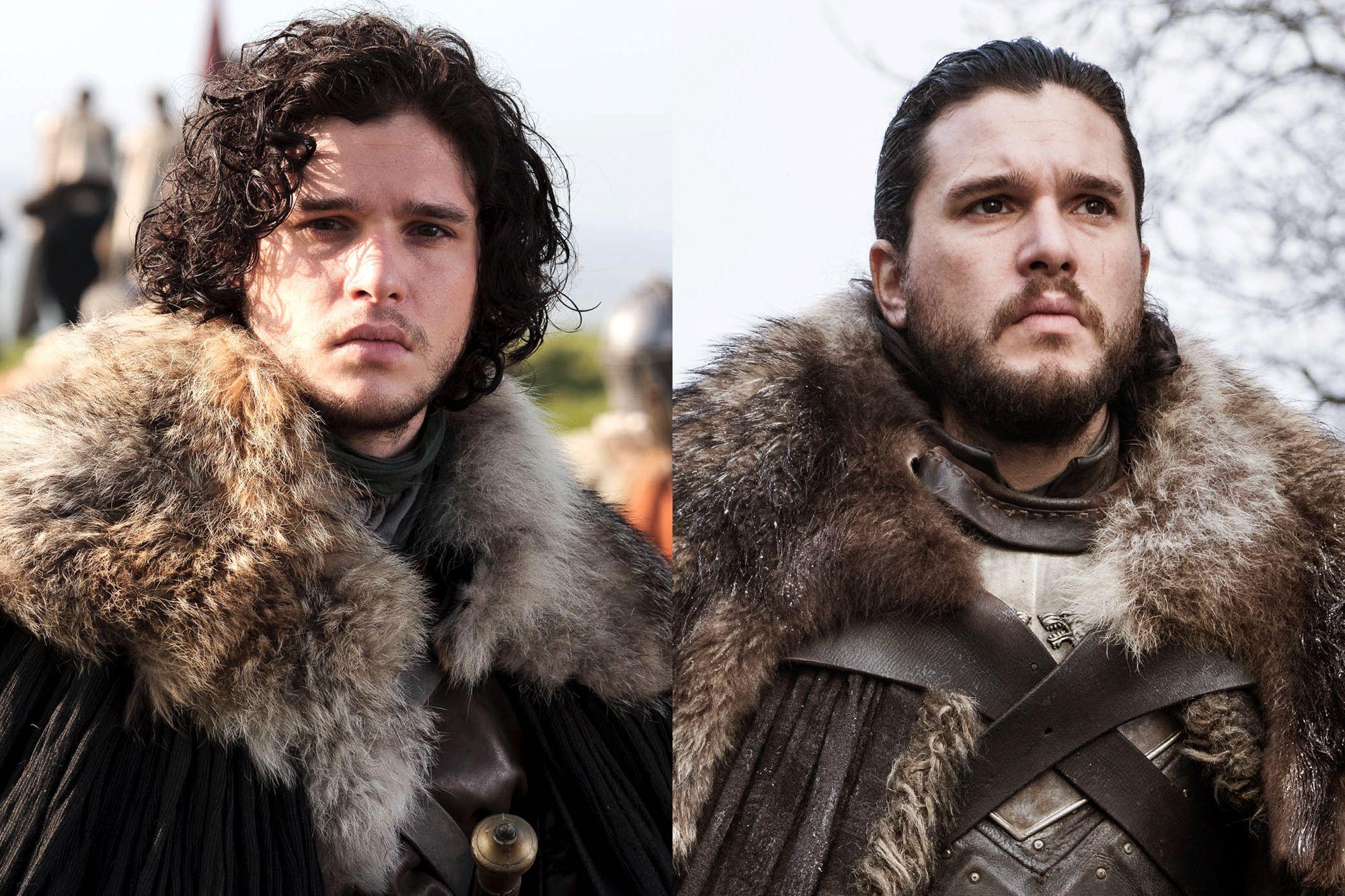 Kit Harington as Jon Snow Season One to Season Eight.