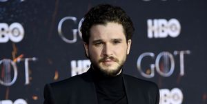 Kit Harington at the final season premiere of Game of Thrones