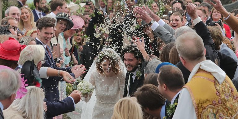 Kit Harington & Rose Leslie's Wedding Photos - Game of Thrones Co-Stars Married Scotland