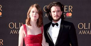 rose leslie kit harington olivier awards
