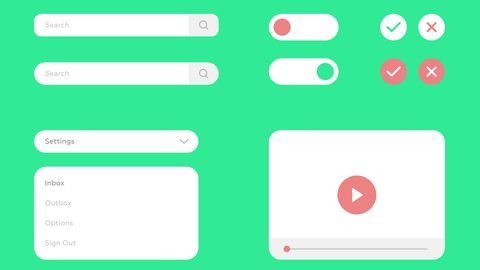 UI Kit Set. UI Kit Set for Webdesign. Vector Flat Design.
