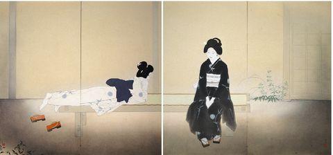 北野恒富  いとさんこいさん 京都市京セラ美術館
