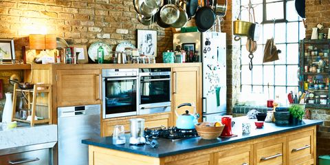 Countertop, Room, Kitchen, Furniture, Cabinetry, Property, Interior design, Turquoise, Building, Home,