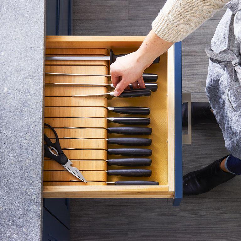 طريقة تقسيم أدراج المطبخ - منظم السكاكين