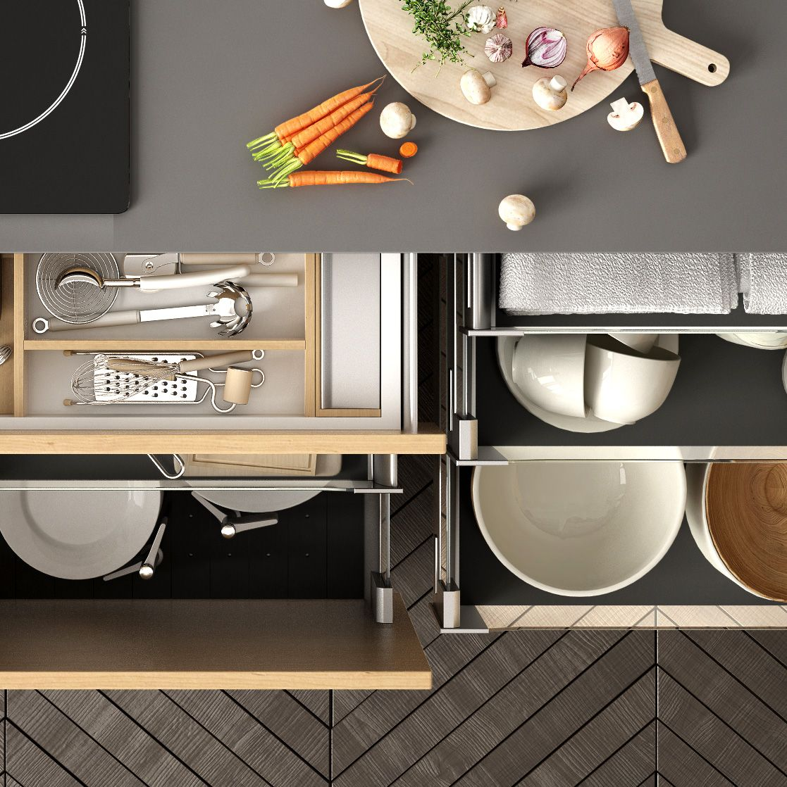12 Genius Kitchen Drawer and Cabinet Organizers to Get Your Home in Order & 12 Best Kitchen Cabinet Drawers - Clever Ways to Organize Kitchen ...