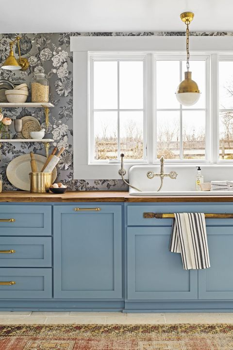 kitchen colors blue