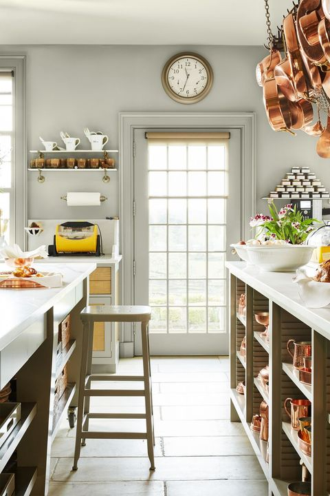 martha stewart's gray farmhouse kitchen