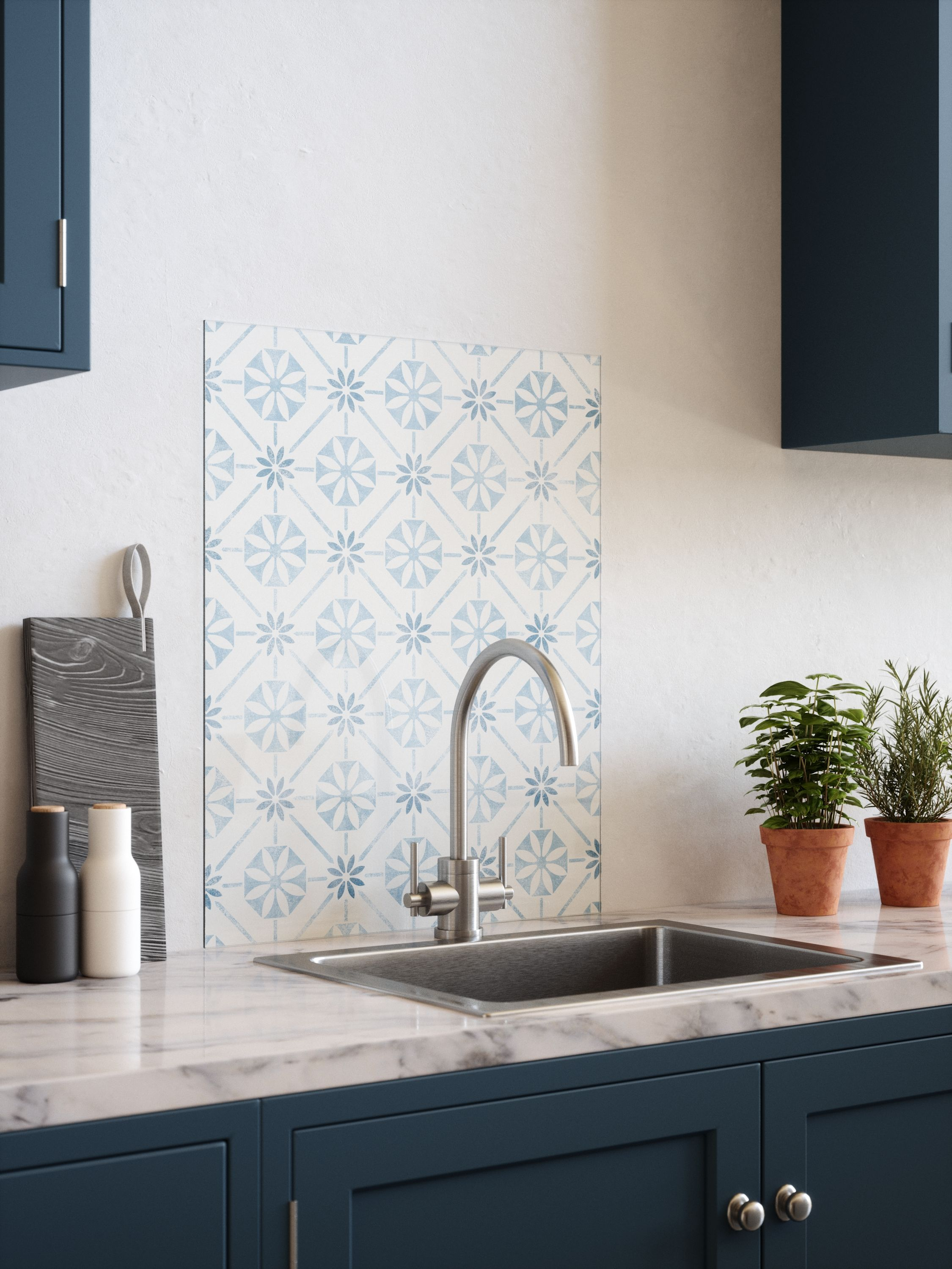 Transform your kitchen in minutes with House Beautiful's glass splashbacks range