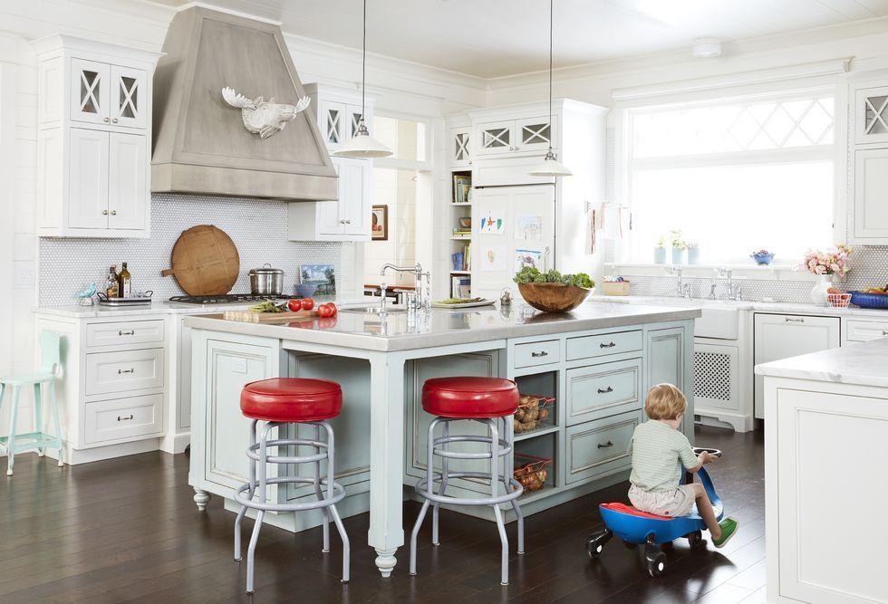 kitchen island ideas barstools & 55+ Best Kitchen Island Ideas - Stylish Designs for Kitchen Islands