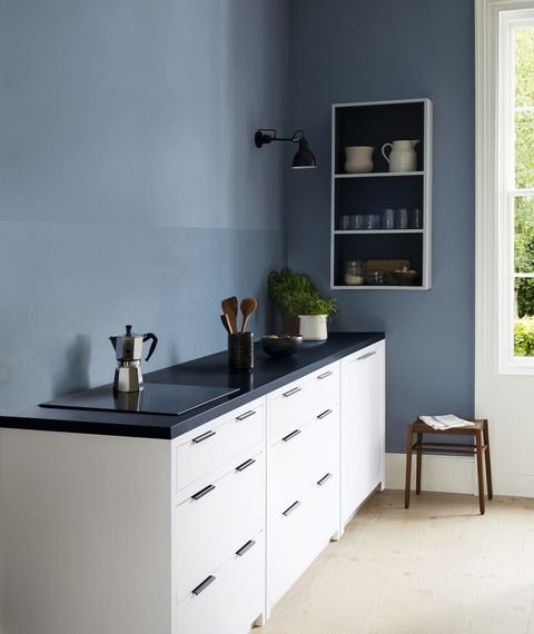 kitchen splashback painted in paint  paper library's architects satinwood