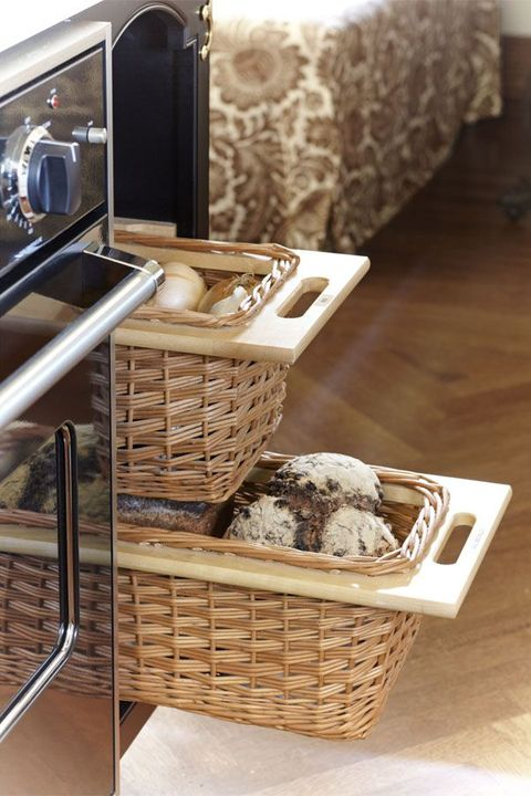 35 Unique Kitchen Storage Ideas - Easy Storage Solutions for ... on gardening basket, vegetables basket, kitchen accessories basket, game night basket, kitchen tool basket, new dog basket, kitchen gift basket, kitchen utensil basket, pasta basket, kitchen christmas basket, kitchen wedding basket, pizza basket,