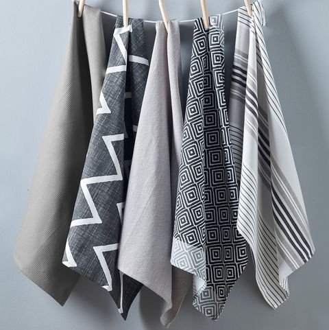 Set of 5 grey tea towels from Next Home