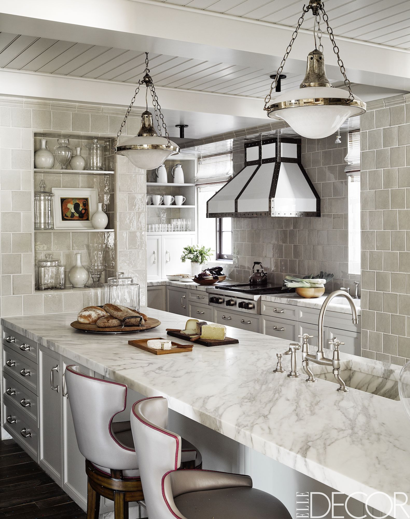 yellow grey of contemporist with pictures tiles inspirational kitchens and kitchen white geometric