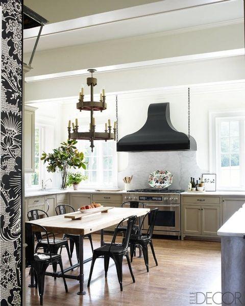 10 Best Kitchen Wallpaper Ideas - Chic Wallpaper Designs for Kitchen Walls