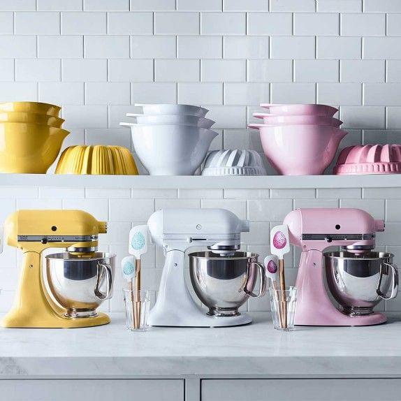 Shelf, Mixer, Small appliance, Home appliance, Pink, Tableware, Kitchen appliance, Room, Major appliance, Jug,