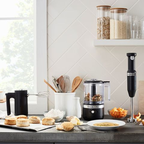 Room, Countertop, Small appliance, Kitchen appliance, Furniture, Material property, Food, Home appliance, Kitchen, Interior design,