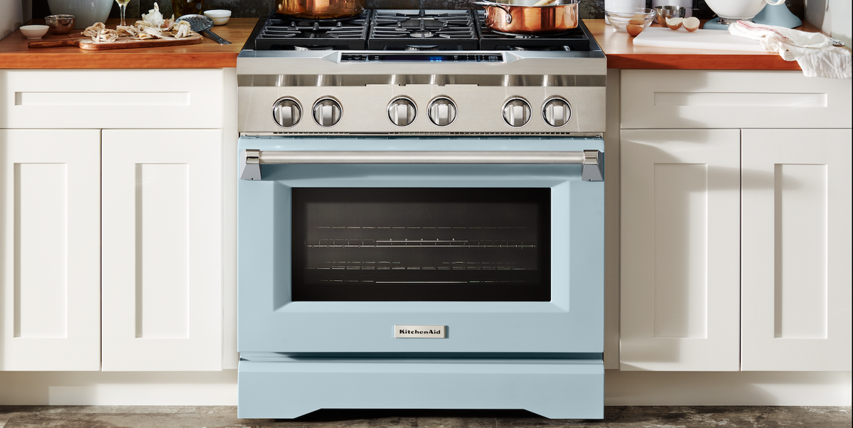 Kitchenaid Released A Misty Blue Freestanding Range