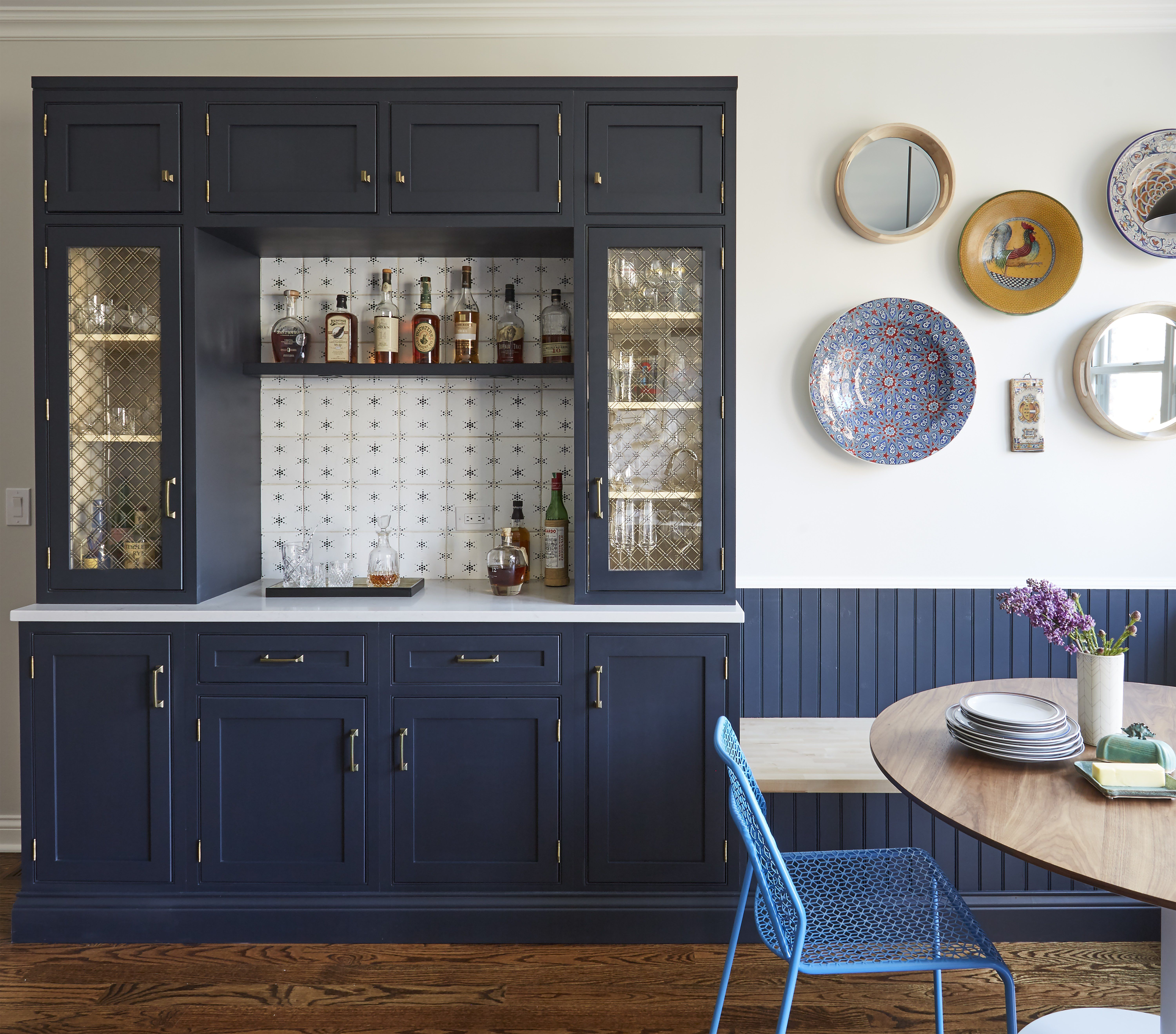 Elle Decor & 40 Blue Kitchen Ideas - Lovely Ways to Use Blue Cabinets and ...