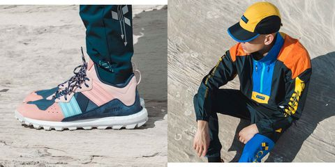 Footwear, Shoe, Yellow, Sportswear, Cool, Outerwear, Street fashion, Athletic shoe, Boot, Sneakers,