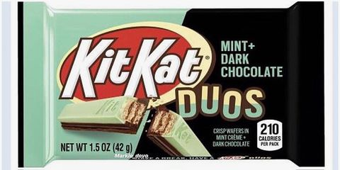 Confectionery, Chocolate bar, Chocolate, Rectangle, Dessert, Snack, Publication, Candy, Junk food, Label,