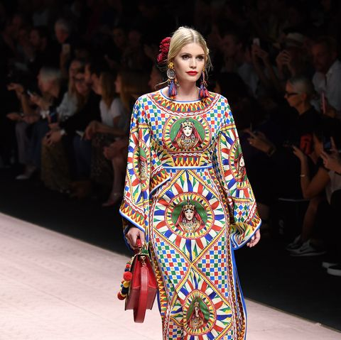 9d8d05dc Lady Kitty Spencer Spring 2019 Dolce & Gabbana Show - Photos of ...