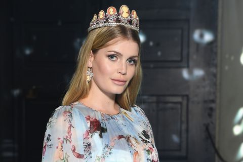 c860a0b4 Princess Diana's Niece Walked Dolce and Gabbana - Kitty Spencer ...