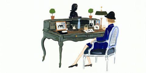 Furniture, Table, Desk, Games, Technology, Recreation, Rectangle, Illustration,