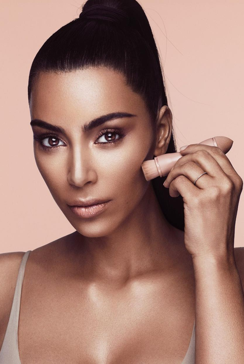 Kim Kardashian Shows Off Her Makeup Skills Using Only Her Highlighter and Contour Kits