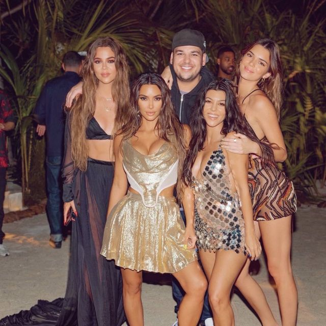 kim kardashian west and family on a private island