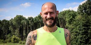 Klaas Boomsma tijdens hardlopen op Healthy fest