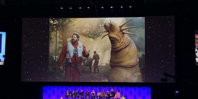 J.J. Abrams revealed a new Star Wars creature named Klaud at Star Wars Celebration