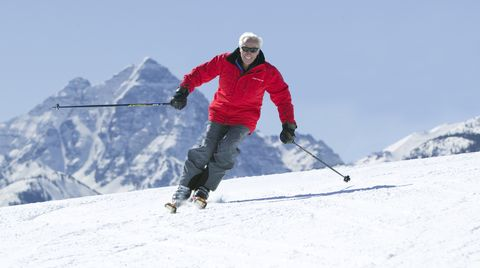 Snow, Skier, Ski, Skiing, Winter sport, Ski Equipment, Alpine skiing, Outdoor recreation, Ski pole, Ski boot,