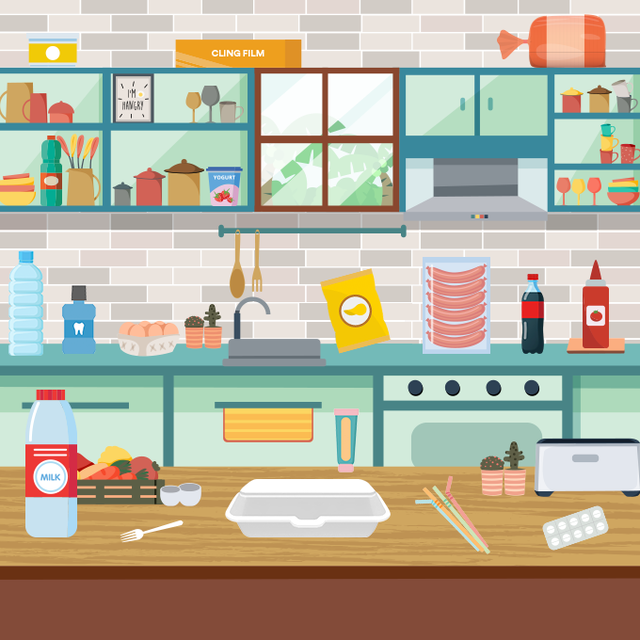 brainteaser can you find 12 recyclable objects in the kitchen