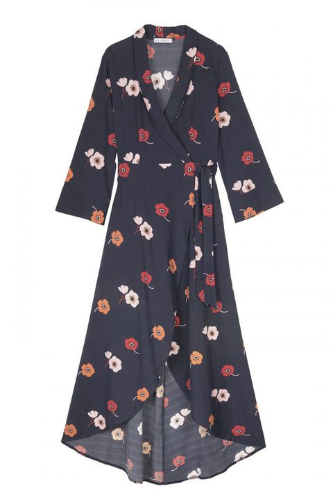 Clothing, Dress, Sleeve, Robe, Day dress, Outerwear, Nightwear, Pattern, Plant, Costume,