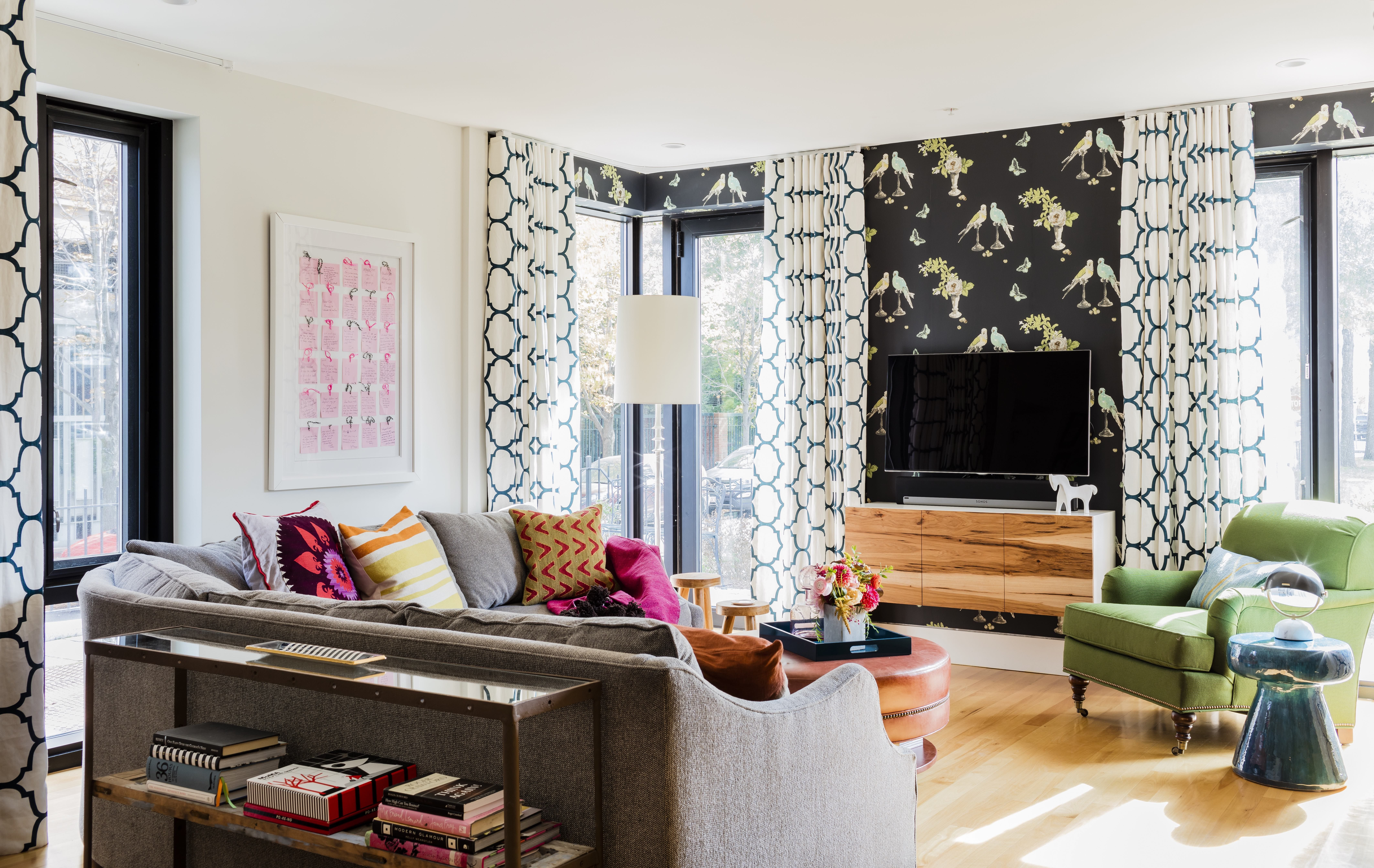 Bold Living Rooms With Patterns - How To Mix Patterns In A Living Room