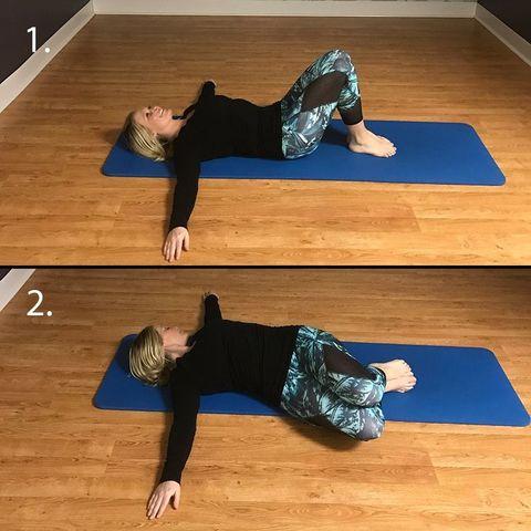 knee drop stretch