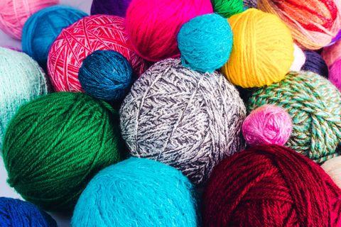 Woolen, Wool, Thread, Textile, Twine, Knitting, Magenta,